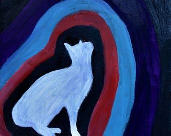 Cat Painting, Cat Aura I (Original Oil Painting), Small Painting