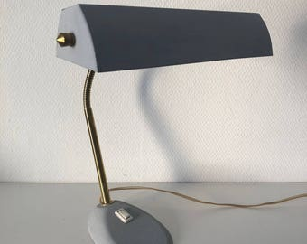 Aluminor French banker lamp mouse vintage 1960's