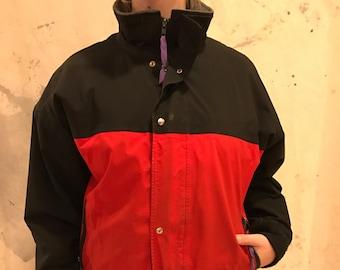bf104e9e0fcd vintage woolrich winter coat gortex red black purple mens medium goretex  gore-tex