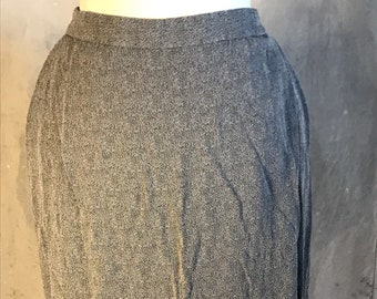 large vintage high waisted 90s skirt long pencil grey gray black office work new york