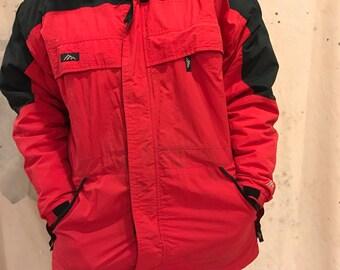 45b4a6255aa3 The snow ridge mens medium Gortex shell red black winter coat warm