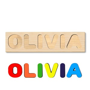 Wooden Personalized Name Puzzle  Choose up to 12 Letters