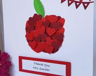 Apple greeting cards etsy m4hsunfo
