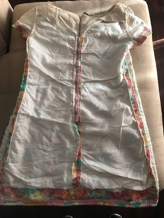 Vintage 60s Pastel Floral MOD Mini Dress - image 7
