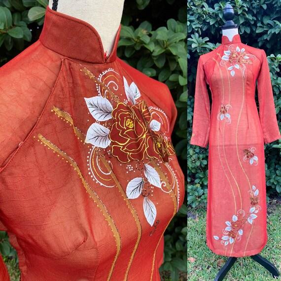 Ao Dai Vietnam, Cheongsam Dress, Qi Pao, Loose Tun
