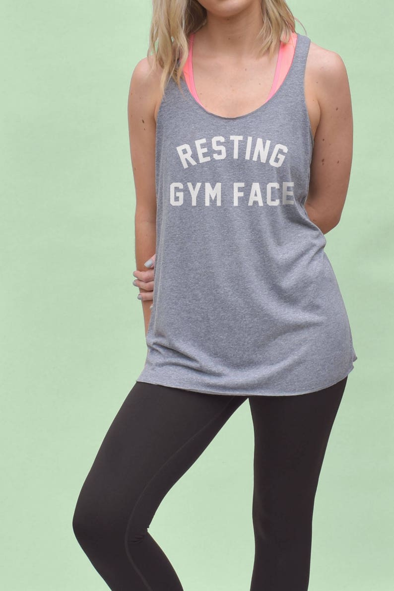 b4ee1f49c Resting Gym Face Tank Top - womens gymwear, funny gym tanks, workout tanks,  womens gym tops, racerback tanks, funny gym shirts, gym quotes