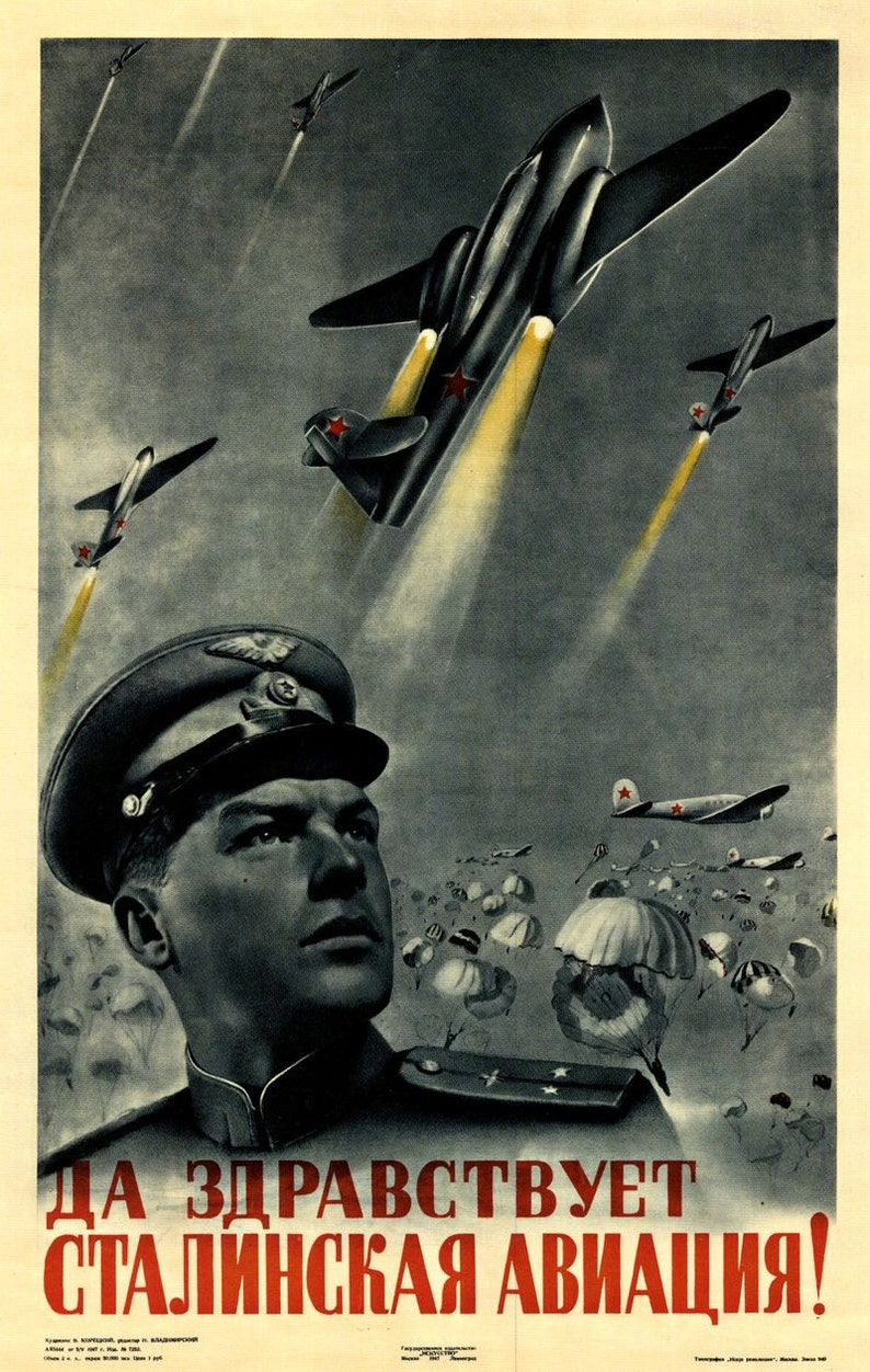 Kunst Vintage Russian Propaganda Poster Soviet Space Race Retro USSR Art Print A3 Antiquitäten & Kunst