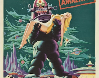 Forbidden Planet Sci-Fi  Movie Film - Vintage Reproduction Wall Art Home Decor Poster Print A3 A4