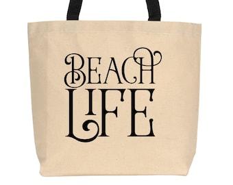 Beach Life Tote, Canvas Tote, Beach Tote
