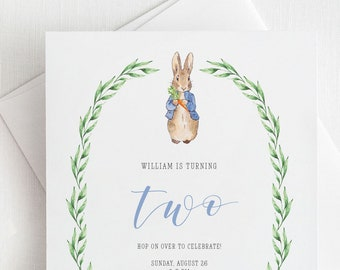 Peter Rabbit Invite Etsy
