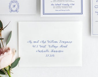 Printed Guest Addressing On Envelopes - Printed Orders Only