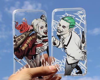 Galaxy s8 Plus case-Samsung a5 2017 case-Galaxy s6 case-samsung galaxy s7 active case-Harley Quinn-Joker case-Cases for pair-Gift for pair