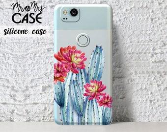 Google Pixel 2 Xl-Clear Blue cactus case-Google Pixel 2-google case-OnePlus 5 cell case-google pixel Xl 2-OnePlus 3t-OnePlus 3-Google Pixel