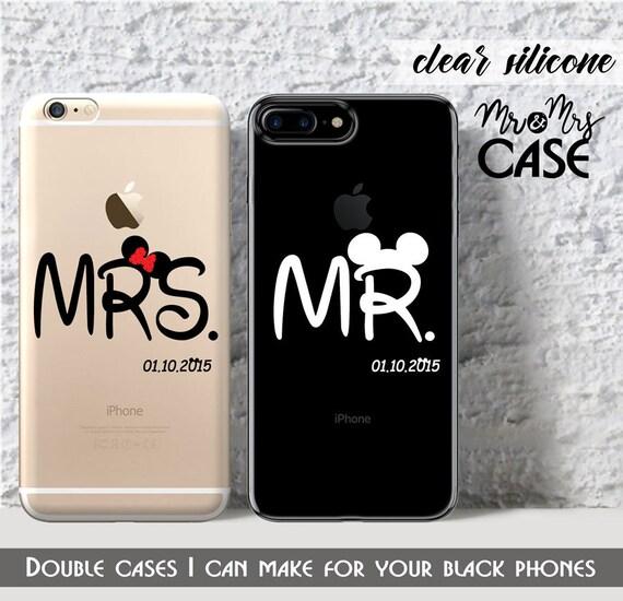 7plus-iphone 6-Mme & Mr-Double coques pour iphone 5 c-protection pour iPhone 6 s-coque pour iphone 4 housse-5 s-iPhone 7 case-Étui pour iphone 7