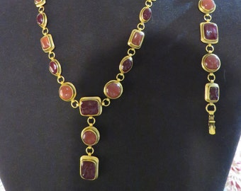e7bf7c8b09b YSL-Rare Set--Vintage Signed and Numbered Yves St Laurent Necklace and  Bracelet- 1970's- Necklace is #307 of 500- Limited Edition Set