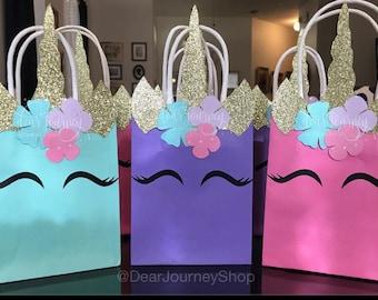 Unicorn Birthday Favor Bag Party Decoration Favors