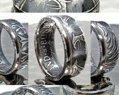 Authentic German Ring made from 5 Deutsch Mark Silver Coin, Women 39 s, Men 39 s, Engagement, Antique, Ring, Wedding Ring, black jewelry Ancestry