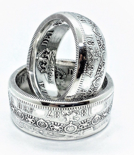 Custom Queen Victoria British Half Crown Ring Sterling Etsy