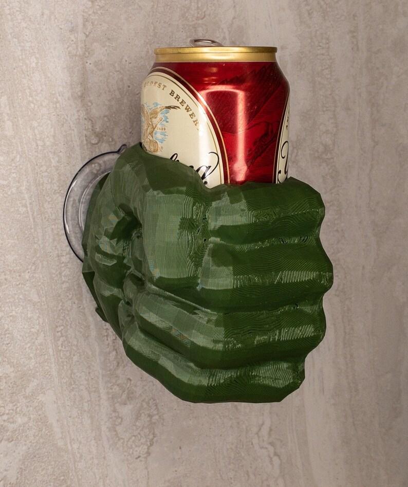 Hulk Beer Holder/Super Hero Decor/Beer Caddie/Wall Mounted image 0