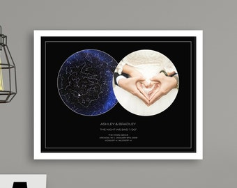 Top Anniversary Gift, Personalized PHOTO Gift, Gift for Husband, Gift for Wife, Custom Star Map, Romantic Gift   DIGITAL DOWNLOAD
