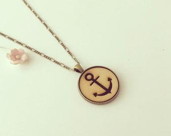 Anchor chain Wood-Art navigator, Maritim, anchor, keeper, Faith Love Hope, sea, sea, voyage, anchor