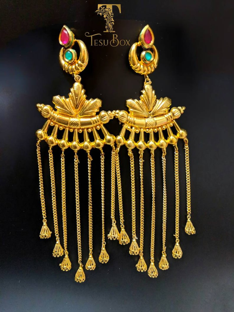 e673019bf Indian earrings jhumka earrings Ethnic Jewelry lightweight | Etsy