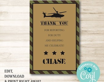 graphic relating to Free Printable Military Greeting Cards called Navy thank yourself card Etsy