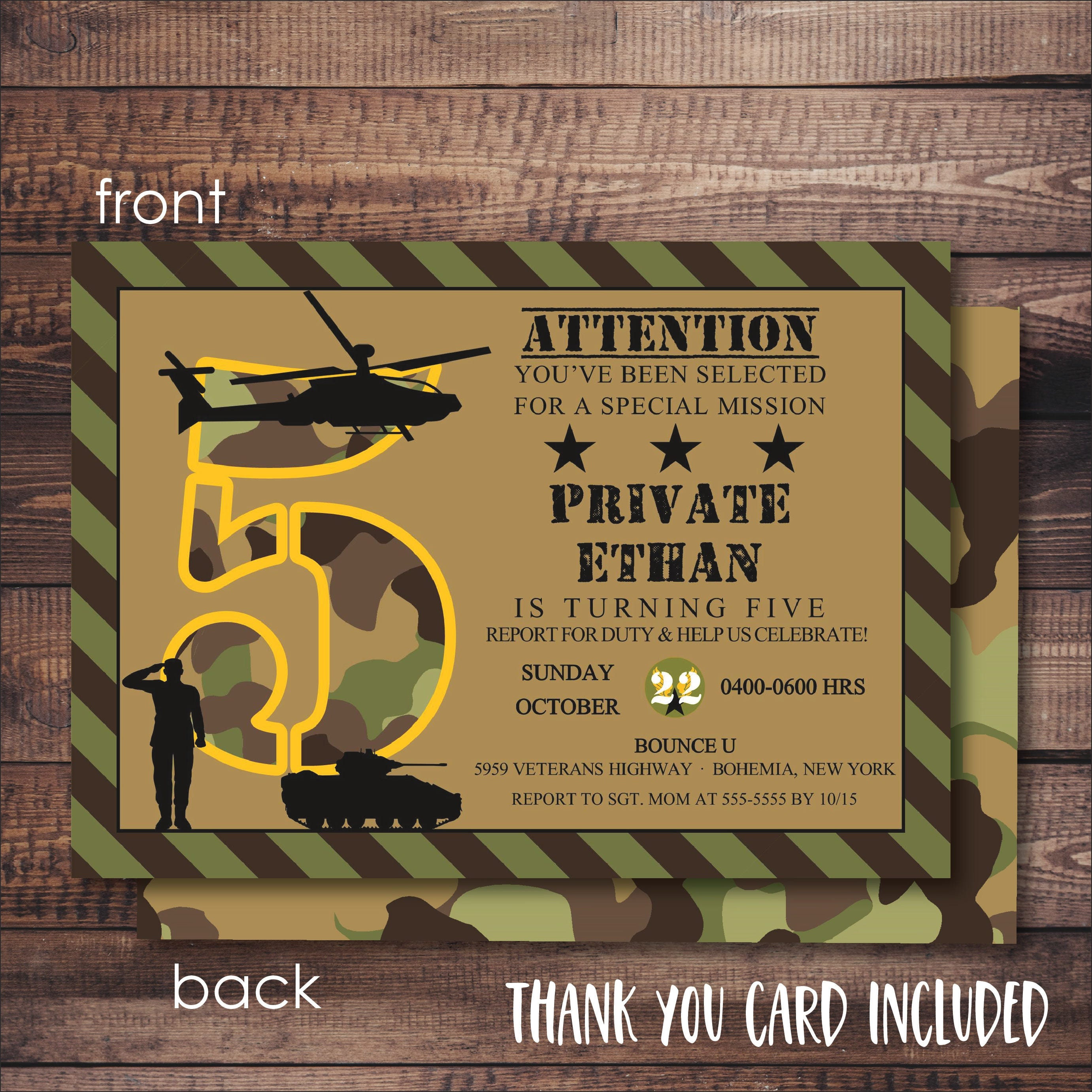This is a graphic of Ambitious Military Thank You Cards Free Printable