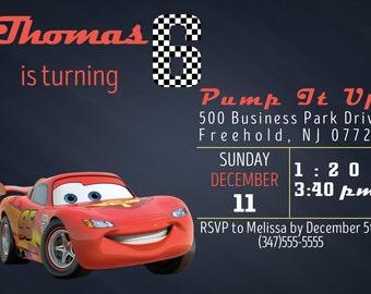 Cars 3 Movie Invitation FREE Thank You Card File Cars 3
