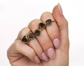 Unique Engagement Ring Smokey Quartz Ring Gold Ring Quartz Ring Smoky Quartz Smokey Quartz Gemstone Gold Smokey Quartz Solitaire Ring