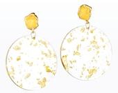 Raw Citrine Earrings, ECA3, Gold Leaf Earrings, November Birthstone Earrings, Raw Crystal Earrings, Drop Earrings, Dangle Earrings