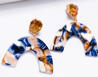 Raw Citrine Statement Earrings, Statement Jewelry, November Birthstone Earrings, Raw Crystal Earrings, Drop Earrings, Dangle Earrings, ECA2