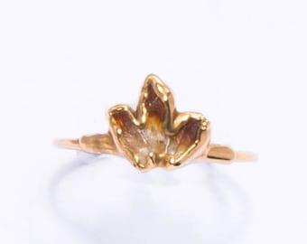 November Birthstone Size 5 Abundance Crystal Magical Gift Crystal Gemstone Jewelry Raw Stone Ring Copper Electroformed Citrine Ring