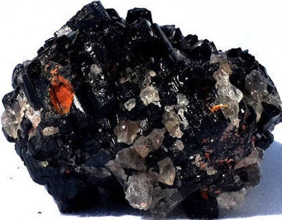 Tourmaline et spécimen de Calcite, Calcite, Calcite, minéraux, minéraux africains, Tourmaline spécimen, les collectionneurs minéraux, spécimens de minéraux, roches, cristaux a3435d