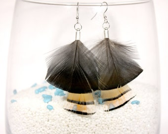 "Earrings feathers ""butterfly"""
