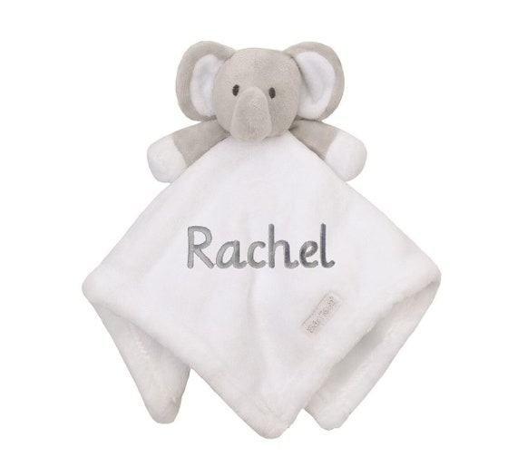 Comforter Embroidered Gift Blankie Personalised Tiger Baby Security Blanket