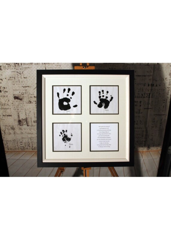 Personalised Handprint Professionally Framed Picture   Etsy