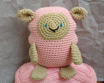 crochet sheep, handmade toy, baby shower gift, girl gift, amigurumi animal, crochet toy, handmade little sheep