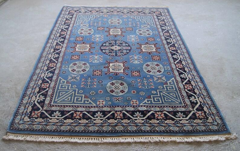 5 6 X8 Daleki Wschód Dywan Mongolski Kolorowy Dywan Vintage Ręcznie Dywan Z Jaskrawymi Kolorami