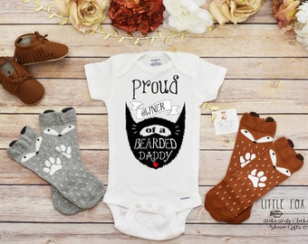 9122e4b83e822 Fathers Day Gift from Baby, Bearded Daddy Onesie®, First Fathers Day Onesie®,  Fathers Day Gift, Fathers Day Gift, Gift for Dad, Fathers Day