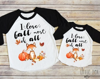 b980f139 Mommy and Me Shirts, Fall Shirts, Pumpkin Shirts, Thanksgiving Shirts, Mommy  and Me Fall Shirts, Fox Shirts, I Love Fall Most of All