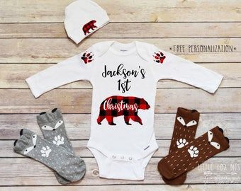 baby boy christmas outfit first christmas boy first christmas onesie baby boy clothes christmas shirt personalized first christmas gift