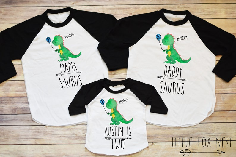 First Birthday Boy Dinosaur Shirt