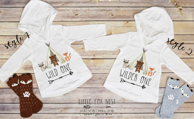 836275b59cc3 Wild One Sibling Shirts Twins Birthday Sibling Outfits | Etsy