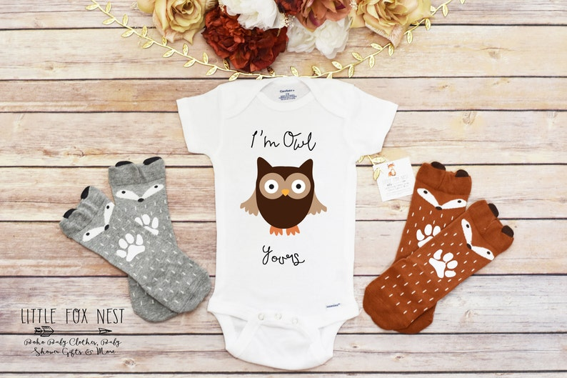88c4a5674 Baby Girl Clothes Owl Shirt Owl Onesie® Owl Gift Boho Baby | Etsy