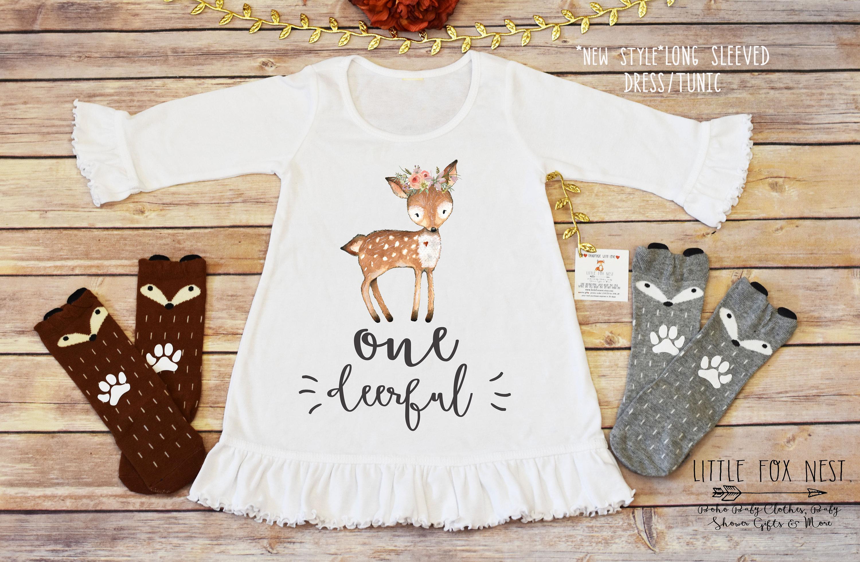026bf36082c8 One Deer Ful Onedeerful First Birthday Girl Deer Birthday