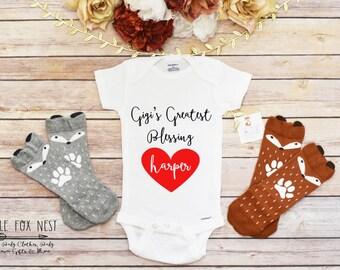 Grandma Gift, Grandma Onesie®, Personalized Baby Gift, Valentines Onesie®, Valentines GIft for Grandma