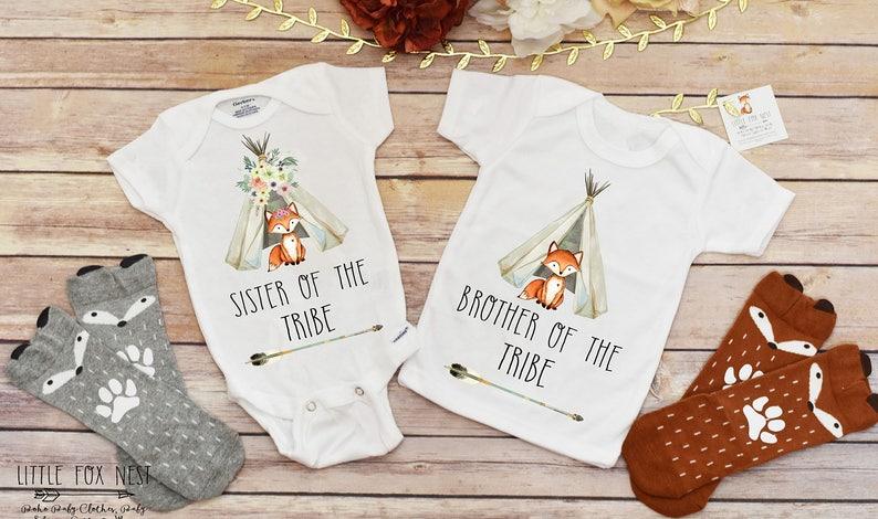 8a8e871d3 Boho Baby Clothes Siblings Shirts Siblings Outfits Sister | Etsy
