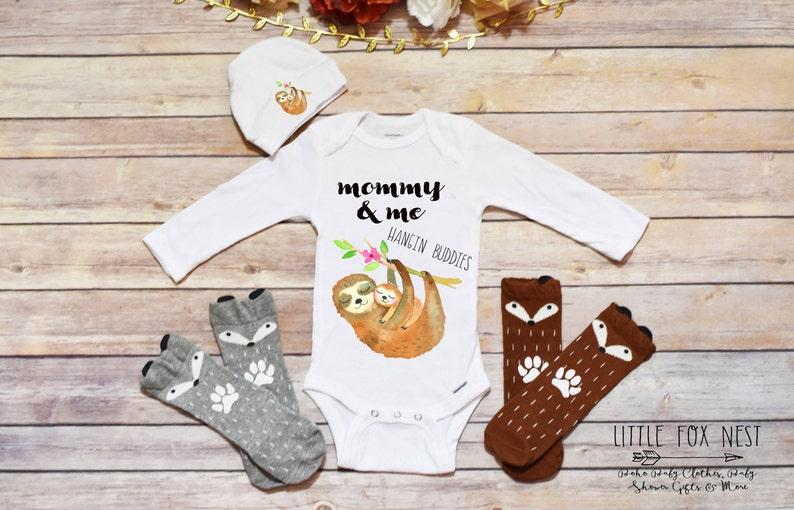 629ab605c Sloth Onesie® Sloth Shirt Mommy & Me Cute Baby Onesie®   Etsy