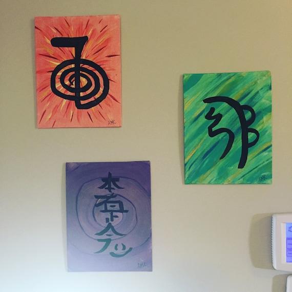 Reiki Symbols 8 By 10 Etsy